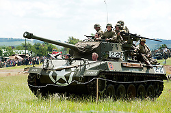 A US M24 Chaffee Light Tank at Spam 1940s Wartime Weekend Heckmondwike<br />