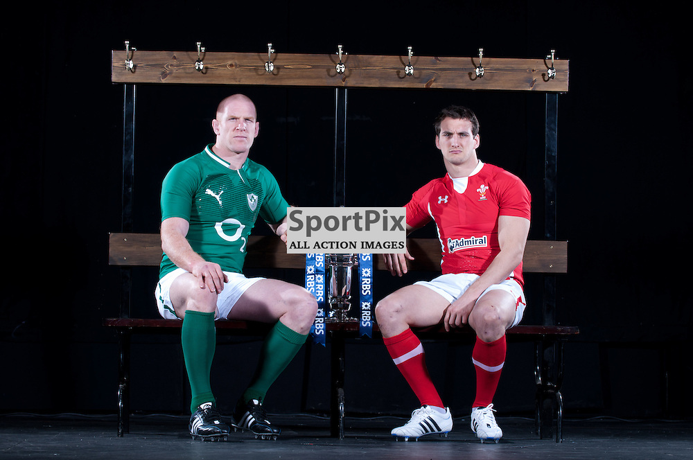RBS 6 Nations media launch, London, England. Paul O'Connell of Ireland and Sam Warburton of Wales