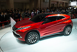 Mitsubishi concept The XR-PHEV plug-in hybrid electric car at Tokyo Motor Show 2013 in Japan