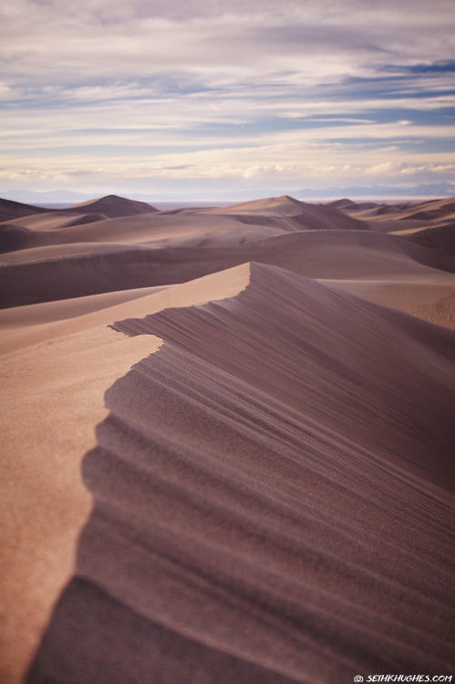 Great Sand Dunes National Park in the San Luis Valley of Colorado.