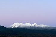 Alpenglow over  Mount Blandshard from Pitt Meadows, British Columbia, Canada