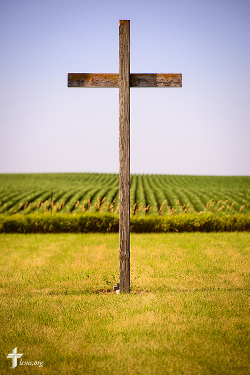 A cross in a rural cemetery on Saturday, July 8, 2017, in West Bend, Iowa. LCMS Communications/Erik M. Lunsford
