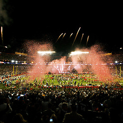 2010 February 07: A general view of the stadium following a 31-17 win by the New Orleans Saints over the Indianapolis Colts in Super Bowl XLIV at Sun Life Stadium in Miami, Florida.