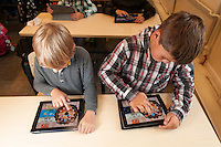 8 year-old schoolchildren in Tallinn (Estonia) learn mathematics on iPads.
