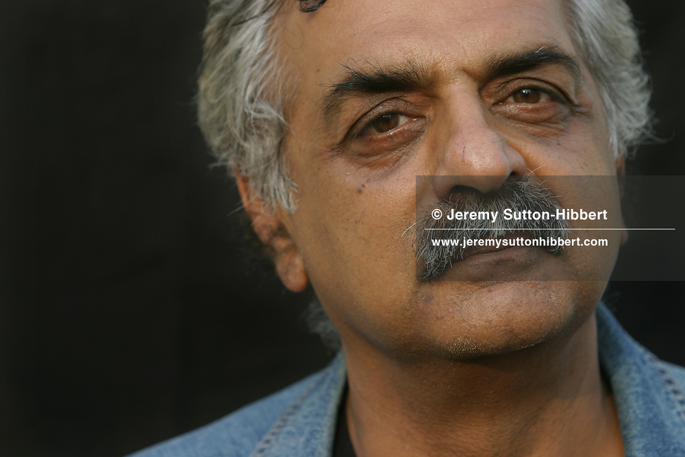 Tariq Ali, author and political and social commentator. Photographed at the Edinburgh International Books Festival.