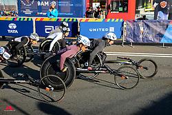 women wheelchair start, Manuela Schar, Tatyana McFadden<br /> TCS New York City Marathon 2019