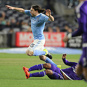 in action during the New York City FC Vs Orlando City, MSL regular season football match at Yankee Stadium, The Bronx, New York,  USA. 18th March 2016. Photo Tim Clayton