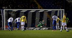 Zach Clough of Bolton Wanderers scores a goal from a penalty to make it 1-0 - Mandatory by-line: Robbie Stephenson/JMP - 24/10/2016 - FOOTBALL - Gigg Lane - Bury, England - Bury v Bolton Wanderers - Sky Bet League One