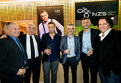 Franc Kopatin, Milan Srebrnic, Matjaz Nemec during Traditional New Year party of of the Slovenian Football Association - NZS, on December 18, 2017 in Kongresni center, Brdo pri Kranju, Slovenia. Photo by Vid Ponikvar / Sportida