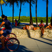 SOUTH BEACH, MIAMI -- September 2013 -- Life along South Beach in Miami, Florida. (Photo by Chip Litherland)