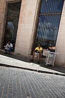 Street seller in Old Havana, Cuba.