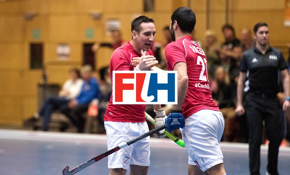 BERLIN - Indoor Hockey World Cup<br /> Czech Republic - Trinidad &amp; Tobago<br /> foto: Czech scored a goal<br /> WORLDSPORTPICS COPYRIGHT FRANK UIJLENBROEK