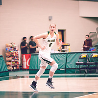 2nd year forward, Macaela Crone (8) of the Regina Cougars during the Women's Basketball Home Game on Thu Feb 14 at Centre for Kinesiology,Health and Sport. Credit: Arthur Ward/Arthur Images