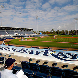 February 25, 2011; Port Charlotte, FL, USA; A general view during a Tampa Bay Rays spring training split squad scrimmage at Charlotte Sports Park.  Mandatory Credit: Derick E. Hingle