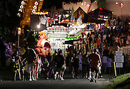 Cornwall-on-Hudson, New York - People walk to and from the Storm King Fire Department fair on the night of July 23, 2011.