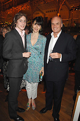 Left to right, ALEXANDER COLERIDGE and his parents NICHOLAS & GEORGIA COLERIDGE at the Orion Authors Party held at the Royal Opera House, Covent Garden, London on 11th February 2008.<br />