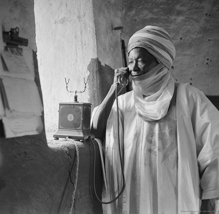 Chief on Telephone, Kano, Nigeria, Africa, 1937