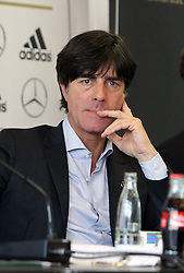18.10.2013, DFB Zentrale, Frankfurt, GER, DFB Pressekonferenz, im Bild Joachim Jogi Löw // during the DFB press conference to extend the contract of national coach Joachim Loew in the DFB headquarters in Frankfurt on 2013/10/18. EXPA Pictures © 2013, PhotoCredit: EXPA/ Eibner-Pressefoto/ RRZ<br /> <br /> *****ATTENTION - OUT of GER*****