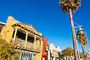 Shops and restaurants on the promenade, Avila Beach, California USA