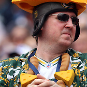 Cheese Head in the stands at the NFL Pro Bowl, Aloha Stadium, 1/30/11, Photo by Barry Markowitz