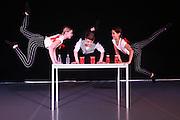 Mannheim. 10.02.17 | BILD- ID 081 |<br /> Dance Professional Mannheim zeigt eine Jahres-Show, in der sich junge Tanztalente präsentieren, die sich momentan auf eine Tanzausbildung vorbereiten.<br /> - Alisa Behnke, Marta Lufinha, Andre Meyer<br /> Bild: Markus Prosswitz 10FEB17 / masterpress (Bild ist honorarpflichtig - No Model Release!)