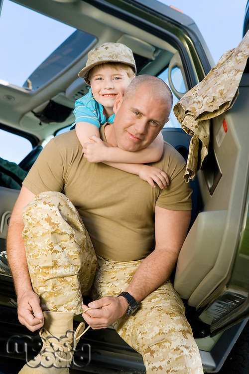 Military Dad Preparing to Ship Out