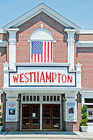 Long Island, New York. Front view of West Hampton Theater.
