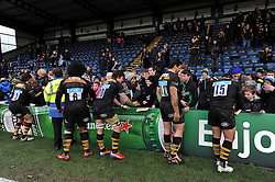 Wasps players mingle and sign autographs with the fans after the match - Photo mandatory by-line: Patrick Khachfe/JMP - Mobile: 07966 386802 14/12/2014 - SPORT - RUGBY UNION - High Wycombe - Adams Park - Wasps v Castres Olympique - European Rugby Champions Cup
