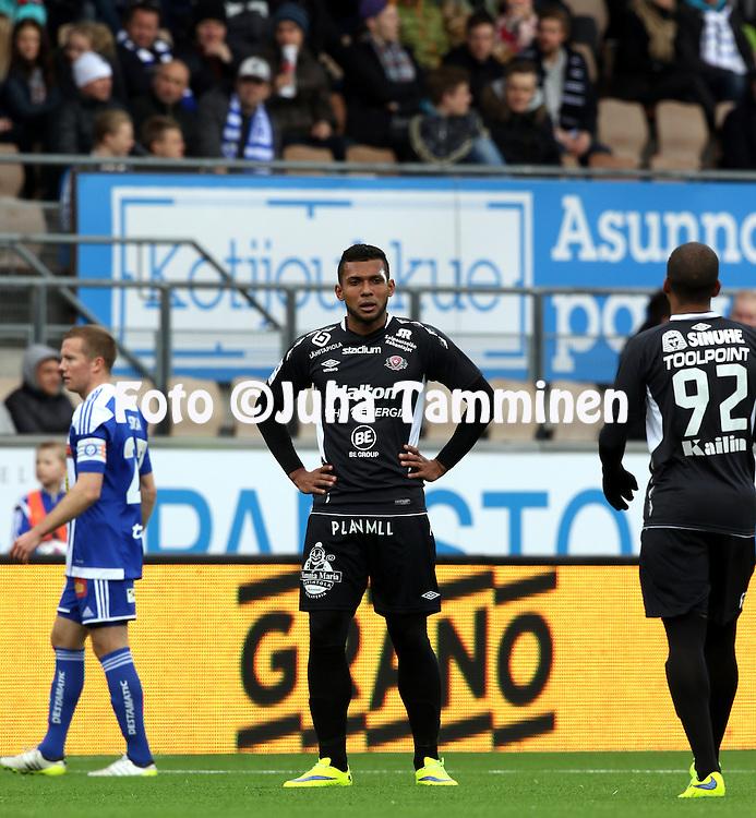 19.4.2015, Sonera stadion, Helsinki.<br /> Veikkausliiga 2015.<br /> Helsingin Jalkapalloklubi - FC Lahti..<br /> Leandro Matheus Alves - FC Lahti
