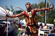 Hoop dancer Cody Boettner performs at the 35th annual Mt. Juliet Pow Wow at Jerry Mundy Park on September 25, 2016. The event hosts native people from many different tribes.