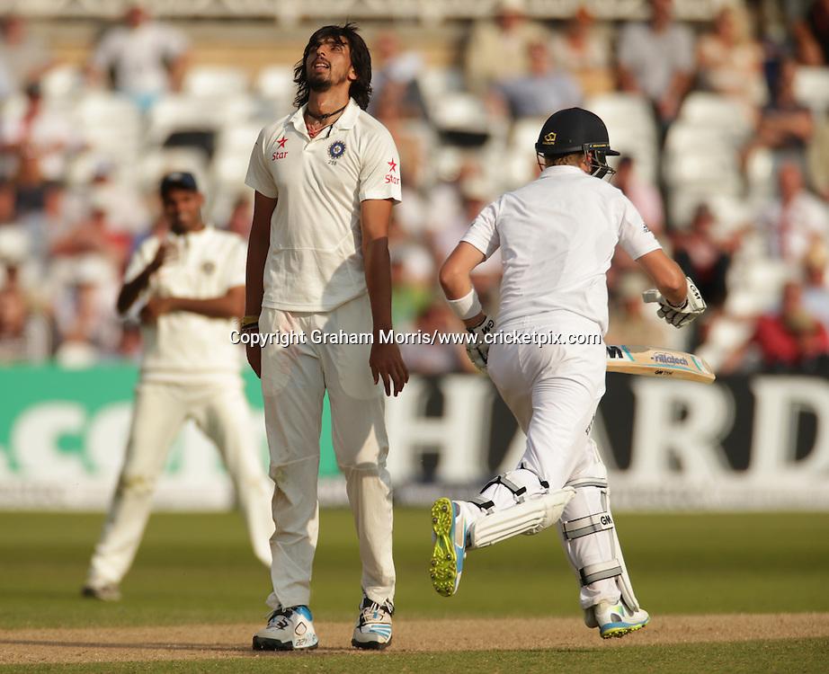 Ishant Sharma, International Test Cricket, England v India, first test, Trent Bridge, Nottingham, England. 9-13 July 2014. Photo: Graham Morris/www.photosport.co.nz