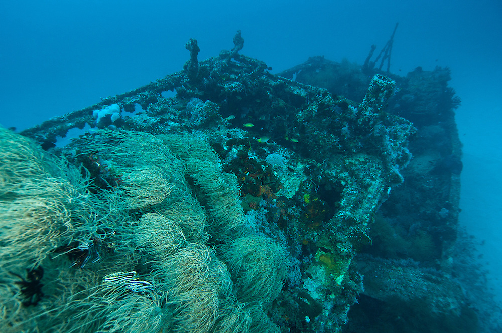Wreck of a PT boat near Manokwari, West Papua, Indonesia.