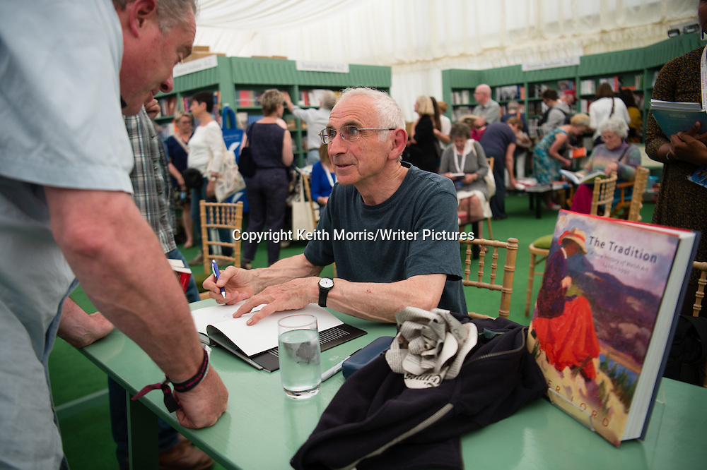 Peter Lord, welsh art historian, The Hay Festival of Literature and the Arts, May-June 2016<br /> <br /> Picture by Keith Morris/Writer Pictures