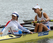 Eton, GREAT BRITAIN, GBR W8+, Cox Caroline O'CONNER and Stroke Elise LAVERICK  at the 2006 World Rowing Championships, 21/08/2006.  Photo  Peter Spurrier, © Intersport Images,  Tel +44 [0] 7973 819 551,  email images@intersport-images.com , Rowing Courses, Dorney Lake, Eton. ENGLAND