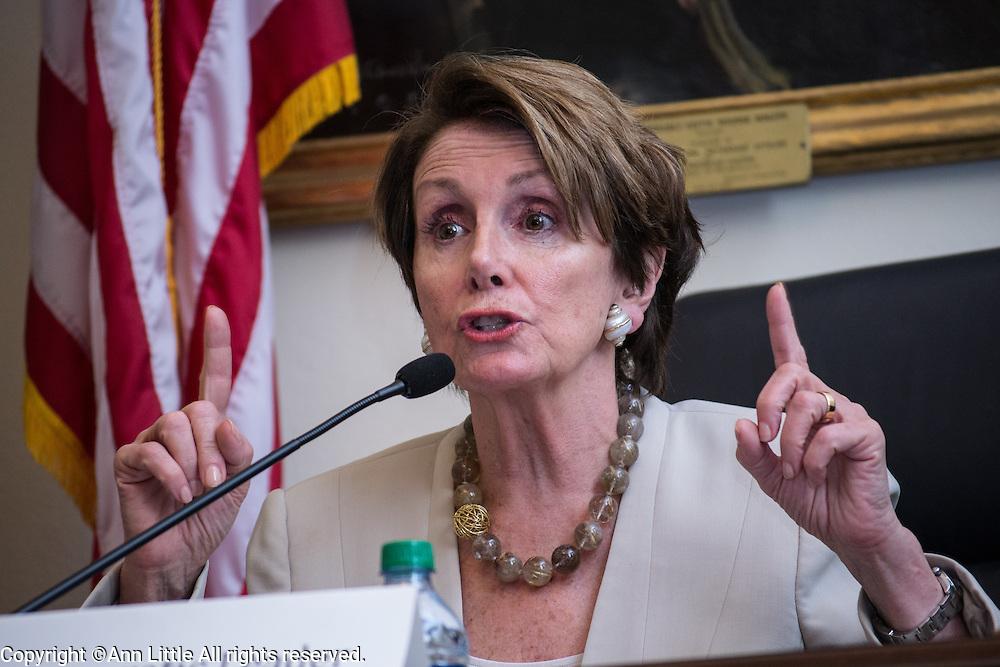 Rep. Nancy Pelosi speaks in Washington, DC