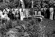 ROME, ITALY - JULY 17: The day of the funerals of Hussein Kamal and Nazyh Mattar, Palestinian leaders Palestine Liberation Organization (PLO), killed in Rome two car bombs on July 17,1982 in Rome, Italy.