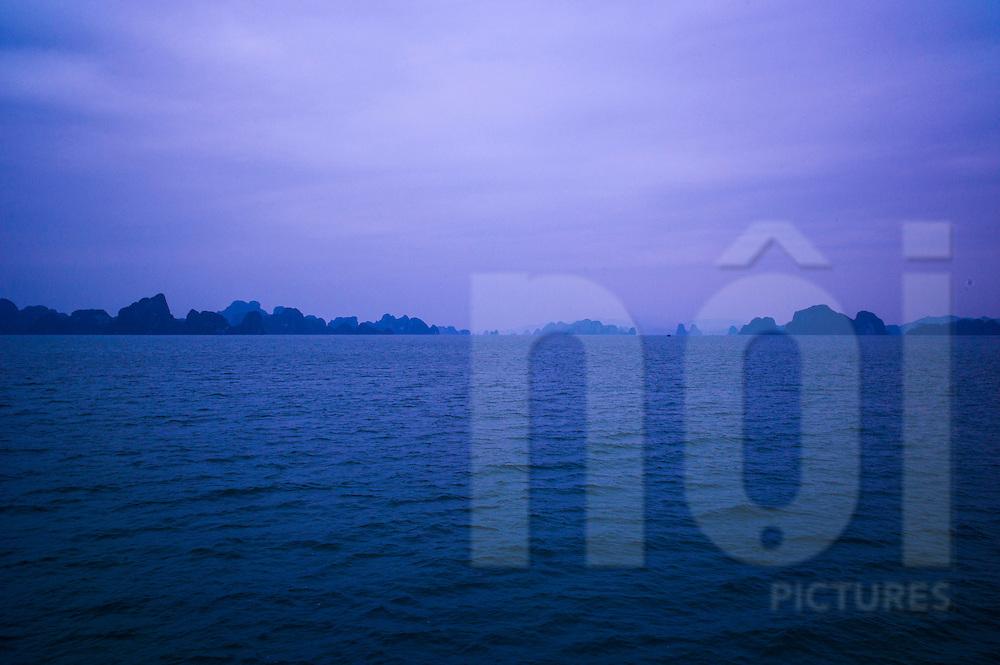 Bai Tu Long Bay near Quan Lan Island, Quang Ninh Province, Vietnam, Southeast Asia