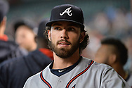 Jul 24, 2017; Phoenix, AZ, USA; Atlanta Braves shortstop Dansby Swanson (7) walks through the dugout during the MLB game against the Arizona Diamondbacks at Chase Field. Mandatory Credit: Jennifer Stewart-USA TODAY Sports