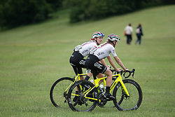 Drops Cycling Team riders cool down after Stage 3 of 2019 OVO Women's Tour, a 145.1 km road race from Henley-on-Thames to Blenheim Palace, United Kingdom on June 12, 2019. Photo by Balint Hamvas/velofocus.com
