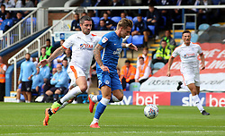Jason Cummings of Peterborough United in action against Alan Sheehan of Luton Town - Mandatory by-line: Joe Dent/JMP - 18/08/2018 - FOOTBALL - ABAX Stadium - Peterborough, England - Peterborough United v Luton Town - Sky Bet League One