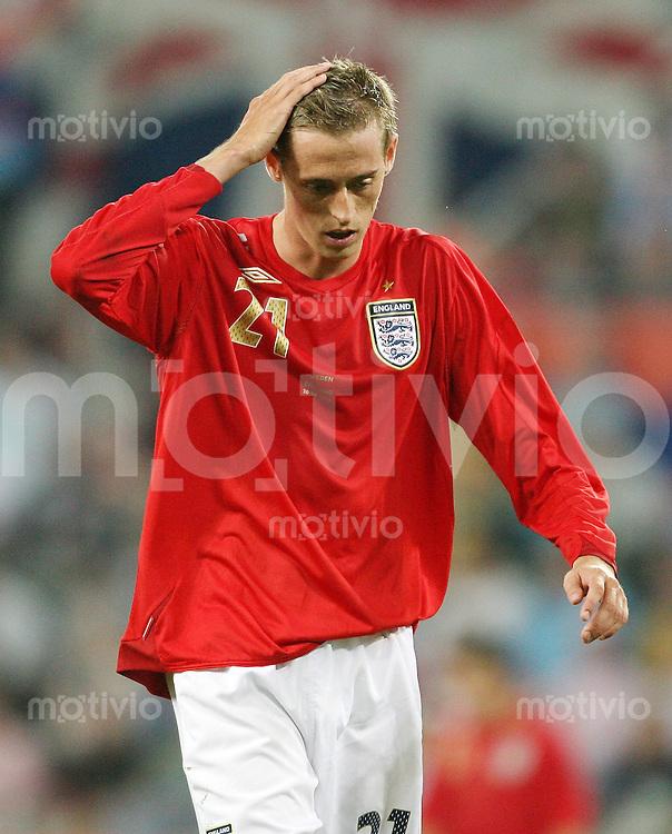 Fussball WM 2006  Gruppenspiel  Vorrunde  Schweden - England Peter CROUCH (ENG)