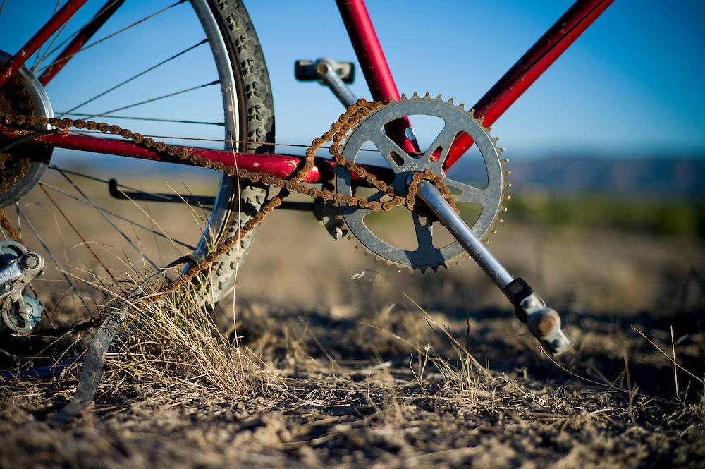Bike fence, Fruita, Colorado.