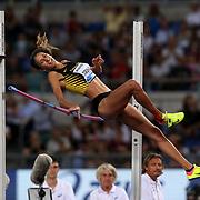 Roma 08/06/2017 Stadio Olimpico<br /> Diamond League : Golden Gala<br /> Alessia Trost salto in alto sbaglia abbattendo l'asticella