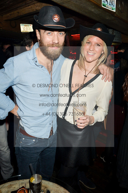 JAMES MIDDLETON and MICHELLE HUNTER at a party to celebrate the opening of Beaver Lodge, a new bar & club from the Inception Group at 266 Fulham Road, London SW10 on 4th December 2014.