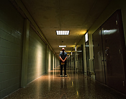 Sant Joan de Vilatorrada, Barcelona,Spain.Reading in the prison.Jules, from Holland, in the corridor of Lledoners Prison.©Carmen Secanella