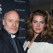 NLD/Amsterdam/20140203 - 20 Jaar Talkies Magazine, Mart Visser en manager Judith