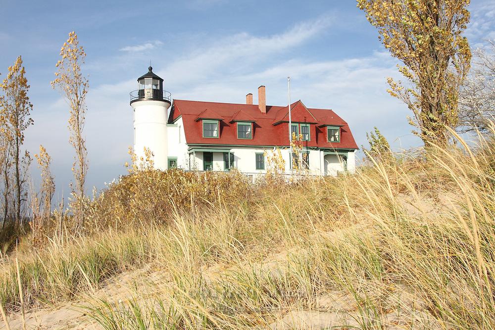 Nov. 05, 2008; Pt. Betsie, MI - Point Betsie Lighthouse on Lake Michigan...Photo credit: Darrell Miho