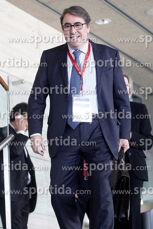 22.03.2016, Ciudad del Futbol de Las Rozas, Madrid, ESP, RFEF, Pressekonferenz spanische Fu&szlig;ballnationalmannschaft, im Bild Jorge Perez Arias, Secretary General of RFEF, // during a press conference of spanish national football Team at the Ciudad del Futbol de Las Rozas in Madrid, Spain on 2016/03/22. EXPA Pictures &copy; 2016, PhotoCredit: EXPA/ Alterphotos/ Acero<br /> <br /> *****ATTENTION - OUT of ESP, SUI*****
