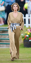 LIVERPOOL, ENGLAND - Saturday, June 20, 2009: Kerry Williams of John Alexander Model Agency wearing the new Summer/Autumn collection from AllMac Designs during a fashion show on Day Four of the Tradition ICAP Liverpool International Tennis Tournament 2009 at Calderstones Park. (Pic by David Rawcliffe/Propaganda)