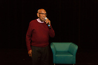 Famed historian, teacher and civil rights activist, Dr. Timuel Black was the guest of honor Thursday morning as Walter H. Dyett High School of the Arts located at 555 E. 51st Street celebrated his life and work with a presentation titled, &ldquo;Living the Dream: History in Bronzeville&rdquo; where he was given the Honorary Eagle Award.<br /> <br /> 5073, 5070, 5068 &ndash; Dr. Black spoke with faculty, staff and students about his experiences dealing with civil rights, his own history and why it is important to always teach and educate others. <br /> <br /> Please 'Like' &quot;Spencer Bibbs Photography&quot; on Facebook.<br /> <br /> Please leave a review for Spencer Bibbs Photography on Yelp.<br /> <br /> All rights to this photo are owned by Spencer Bibbs of Spencer Bibbs Photography and may only be used in any way shape or form, whole or in part with written permission by the owner of the photo, Spencer Bibbs.<br /> <br /> For all of your photography needs, please contact Spencer Bibbs at 773-895-4744. I can also be reached in the following ways:<br /> <br /> Website &ndash; www.spbdigitalconcepts.photoshelter.com<br /> <br /> Text - Text &ldquo;Spencer Bibbs&rdquo; to 72727<br /> <br /> Email &ndash; spencerbibbsphotography@yahoo.com